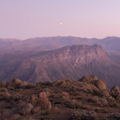 Print art: Moonrise Over Dry Mountains