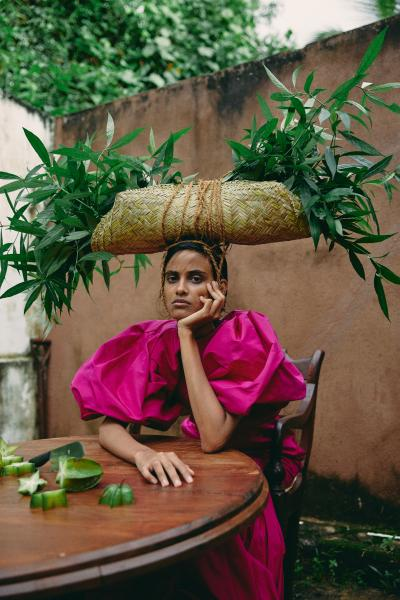 Print art: Sri Lankan girl 2