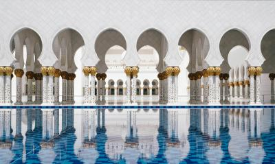 Print art: Mosque Reflections