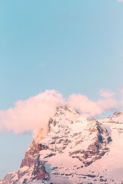 Print art: The pink mountain